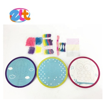 2018 latest girl's toy plastic string art kit