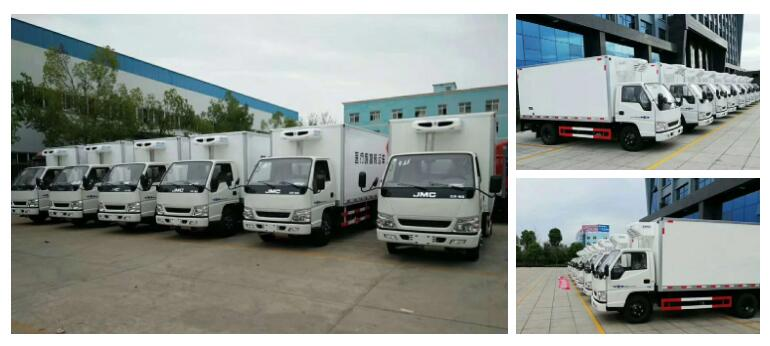 JAPAN Famous Brand 4-5 Tons Refrigeration Truck 4X2