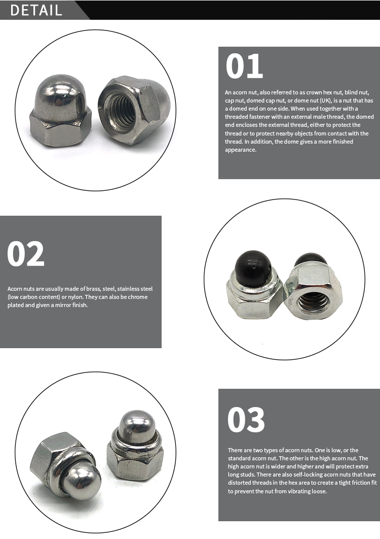 China suppliers wholesale metric polished m2 m6 m8 m12 plastic protective bolt covers hex nut Hexagon domed Nylon Lock Cap Nut