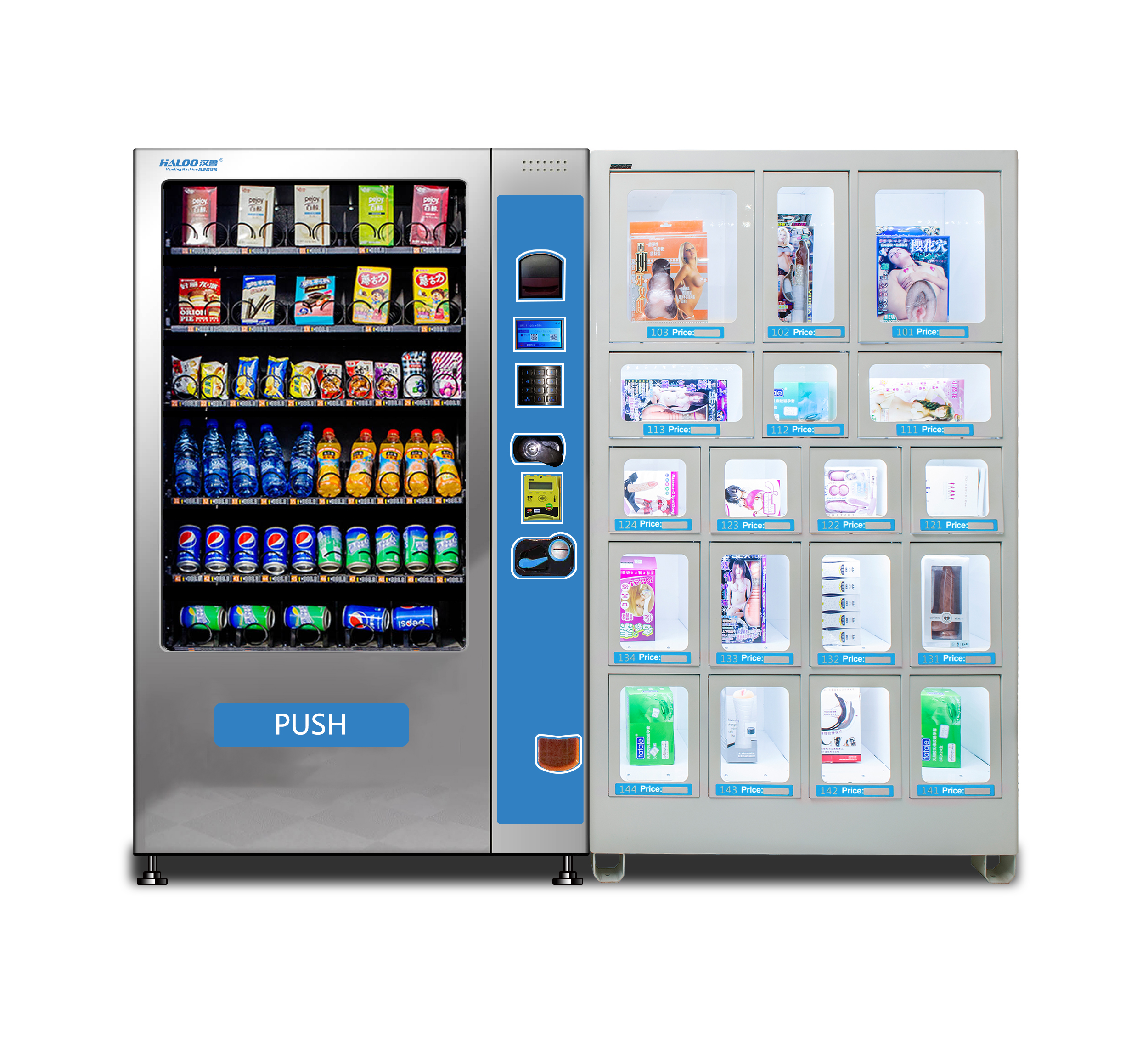 24 hour fresh fruit salad sushi meat flower vegetable egg locker vending machine