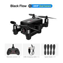 L102 мини складной RC Drone Wi-Fi FPV 480P/720P HD камера, оптический поток, двойная камера s, умный режим управления жестами, RC Quadcopter игрушки(Китай)