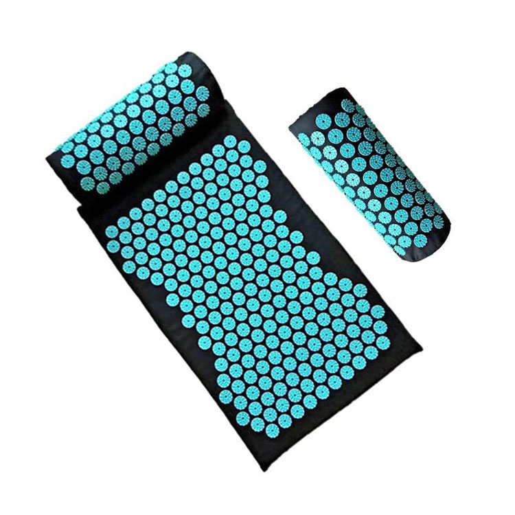 100% eco natural material top quality yoga foot shakti lotus plastic spikes acupressure mat and pillow set