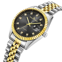classic mens gold watch luxury stainless steel rollex watches