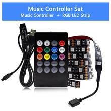 Светодиодная лента USB 5050 RGB Изменяемая светодиодная подсветка для ТВ 50 см 1 м 2 м 3 м 4 м 5 м DIY Гибкая Светодиодная лампа.(Китай)