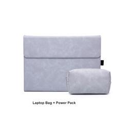 SeenDa матовая сумка с магнитной пряжкой для ноутбука Surface Pro 7 для женщин и мужчин чехол для ноутбука с блоком питания чехол для планшета(Китай)