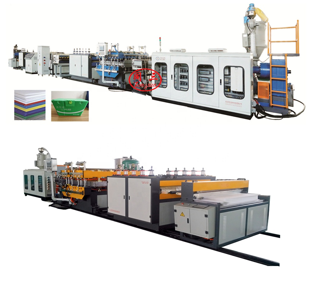 Plastic  PP PE Hollow corrugated sheet  machine automatic / Plastic  packing box production line
