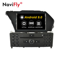 NaviFly 7 ''Android 9.0 Octa core <span class=keywords><strong>auto</strong></span> video Voor Benz GLK 2008-2010 car audio systeem 4 + 64GB IPS DSP BT WIFI GPS FM