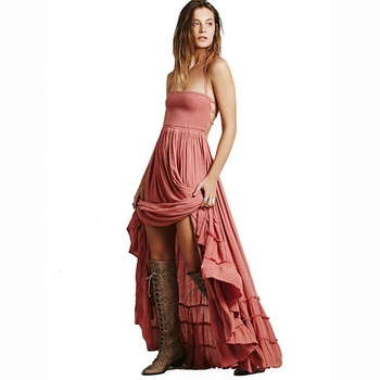 Bohemia Maxi Party Sleeveless Women Boho Dress Free People Style