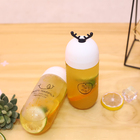 round shape cute white lid 6oz 500ml plastic juice bottles thai tea bubble tea milk bottles