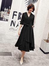 Платья для выпускного вечера с v-образным вырезом It's Yiiya AR307 элегантное женское вечернее платье с коротким рукавом и бантом 2020 бордовое полуо...(China)