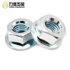 DIN6923 Carbon steel zinc electroplate hex nut with rotating M6 M8 M10 flange nut washer