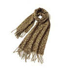 Label Cheap Winter Private Label Light Weight Leopard Jacquard Scarf Designs