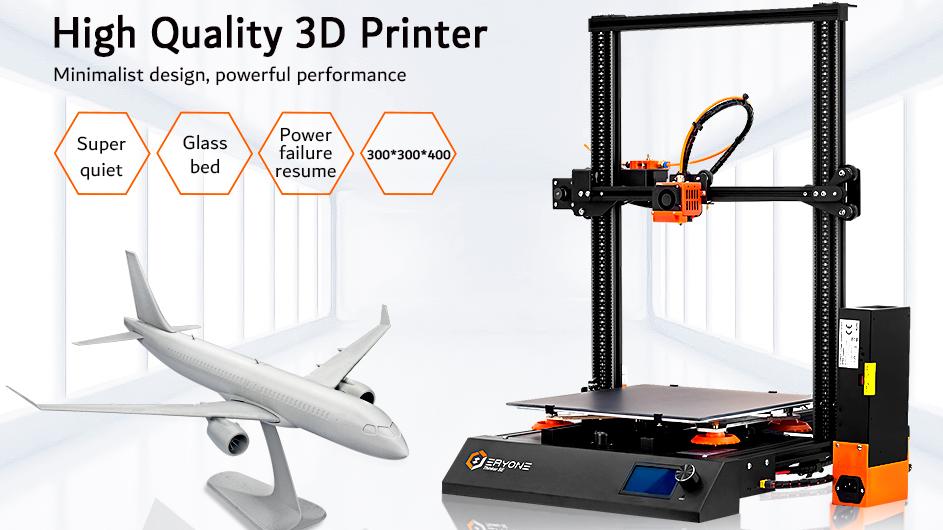 Factory Price Eryone Thinker SE Super Quiet Impresora 3dprinter TMC2209  Stepper Motor With Glass Printing Platform