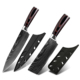 Japanese Kitchen Knives Damascus Pattern 8 inch Chef Knife 7inch Sharp Santoku Cleaver Slicing Utility Knives Tool