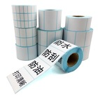 Blank Barcode Transfer Thermal Label Paper Christmas Stickers With Printer