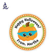 Hot Sale Kustom Cetak Happy <span class=keywords><strong>Halloween</strong></span> Warna-warni <span class=keywords><strong>Lucu</strong></span> <span class=keywords><strong>Stiker</strong></span> Label
