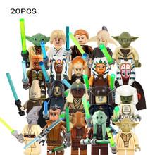 Новинка, 20 шт./лот, Звездные войны, клон, штурмовик, штурмовик, Stroom Mini Sith Jedie Knight, фигурки, совместимые строительные блоки, KidsToys(China)