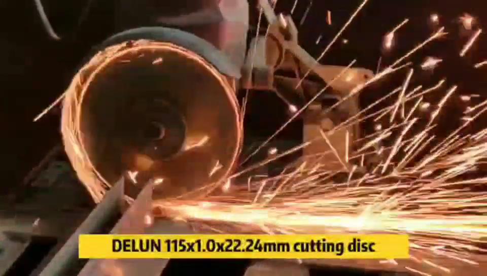 115mm 4 1/2 4,5 zoll DELUN metall inox edelstahl schleifen stein schleif werkzeuge abrasivos trennscheibe schneiden rad disco de corte