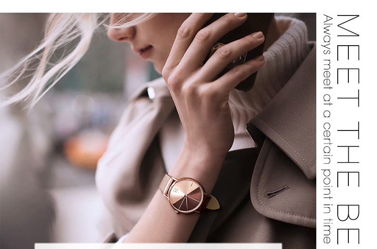 SHENGKE SK0095  2019 New Product Lady's Quartz Movement Fashion Simple Style  Leather Band Watch