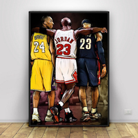 Kobe Bryant Michael LeBron James Basketball Canvas HD Prints Home Decor Poster Painting Wall Art Modular Picture