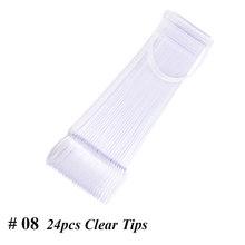 160 шт прозрачный натуральный поддельные ногти съемный пластиковый дисплей ложных ногтей с кольцом для полировки клеем практика полное покр...(Китай)
