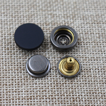 New fashion matt black metal 17mm snap button for leather