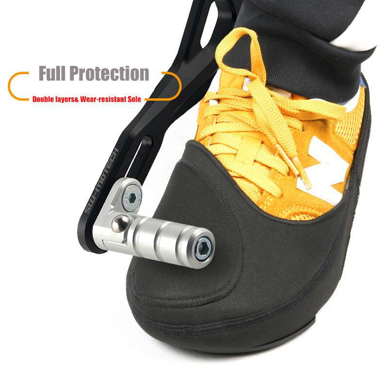 Antivento Ciclismo Scarpe Punta Più Caldo Impermeabile Scarpe Da Equitazione Gear Shifter Scarpa Stivali Protector Pad Nero