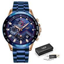 LIGE модные мужские часы из нержавеющей стали, топ-бренд, роскошный спортивный хронограф, кварцевые часы, мужские черные часы, Relogio Masculino 2020(Китай)
