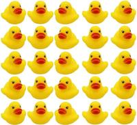 Wholesale Bulk Lot Baby Bath Water Duck Toy Sounds Tiny Mini Yellow Rubber Ducks