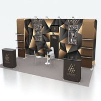 Hot Selling Cosmetic Exhibition Trade Show Booth Eyelash Display Stand EXpo Booth