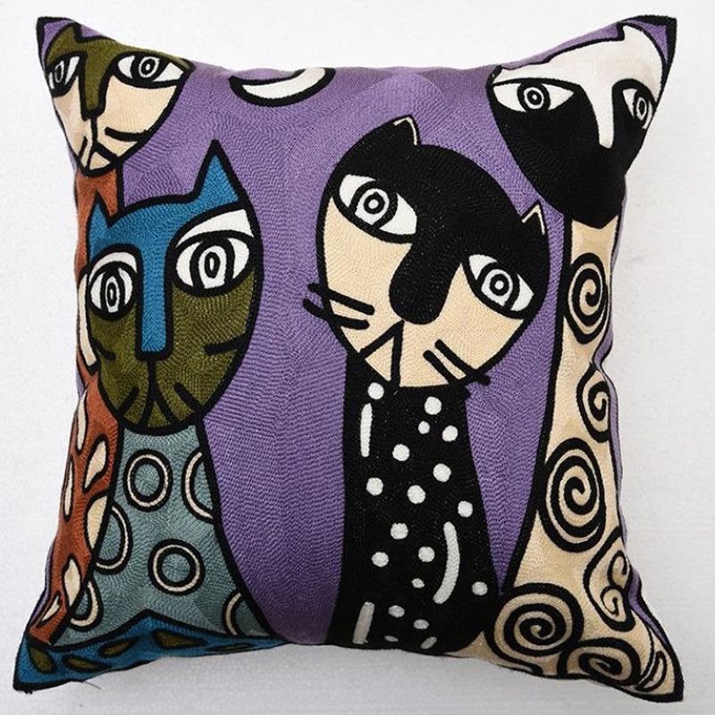 Wholesale Northern Europe Style embroidered cushion