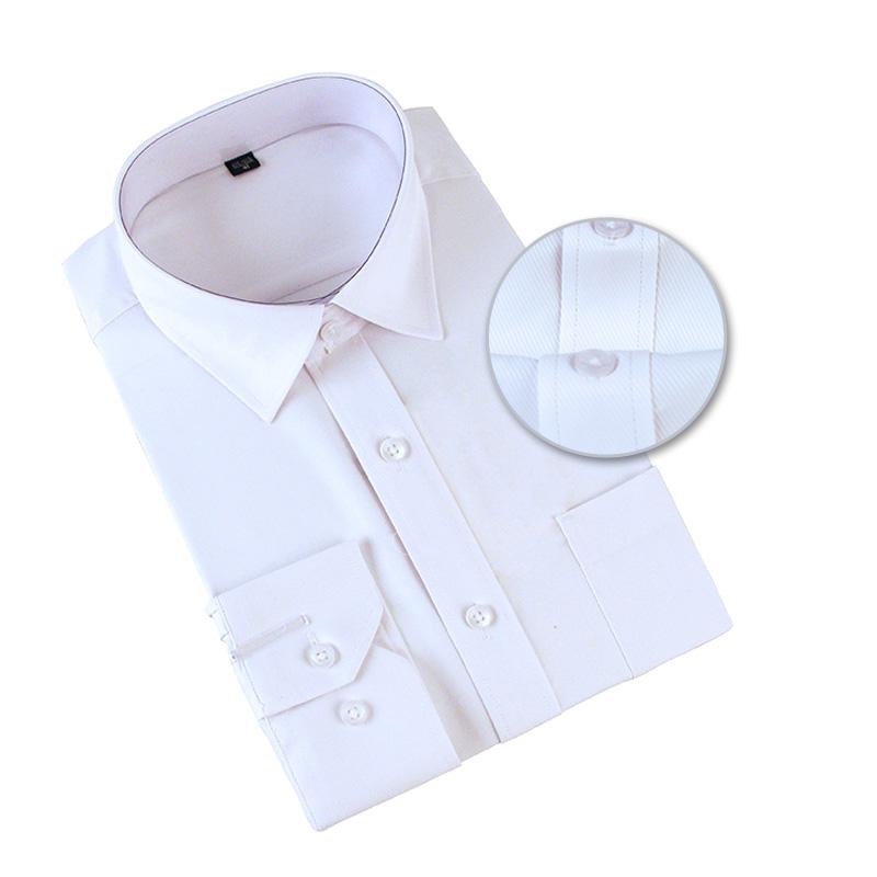 도매 남성 코튼 긴 소매 사무실 화이트 드레스 셔츠