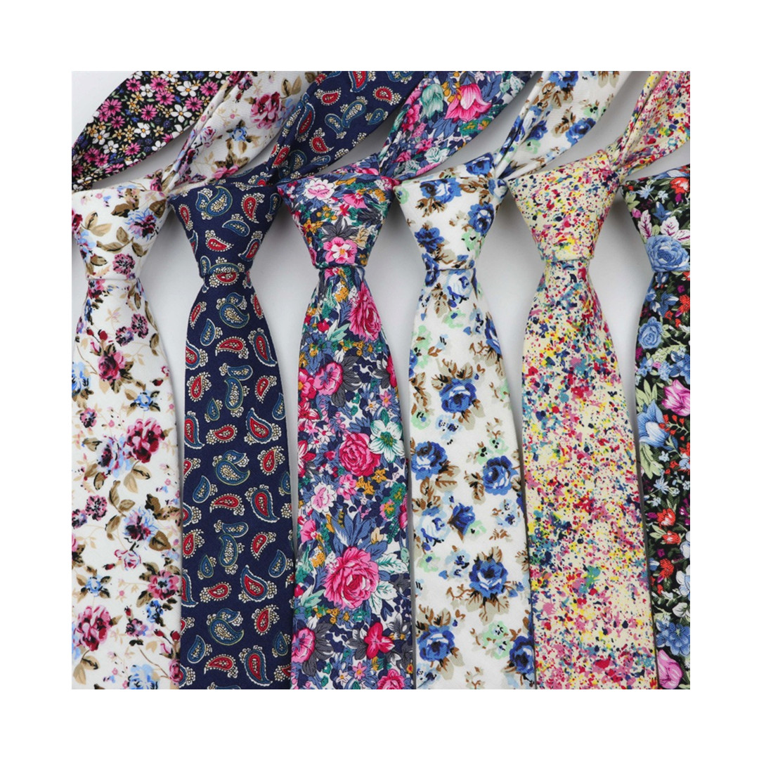 Cotton Flower <strong>Tie</strong> Classical Colorful Floral Stitching Necktie Lovely Fashion Mens Narrow Neckties Designer Handmade <strong>Ties</strong>