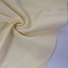 Cotton Interlock Cream Yellow 100% Cotton Knitted Interlock Fabric For Clothes-18003807
