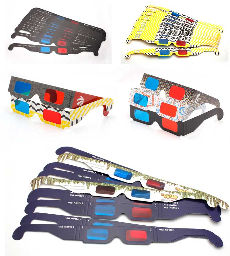 Custom 종이 입체 3D Red Blue Glasses