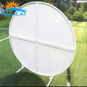 NAXILAI 6 Feet 6.5 ft Circular Mesh Backdrop Circle Acrylic Round Backdrop Frames