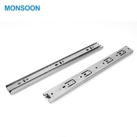 35mm Double Stack Cabinet Sliding Guide Rail Drawer Slide Furniture Hardware