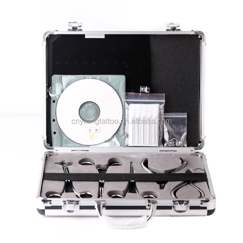 Piercing tools kit supply & professional tattoo piercing kit with high quality