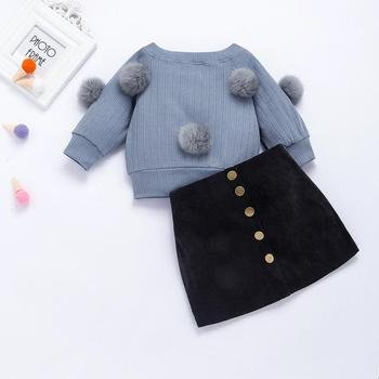 2019 latest design kids baby girl boutique clothing sets winter clothes 1 set