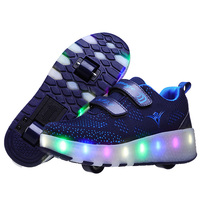 New arrival usb rechargeable children led roller sports wheel shoes