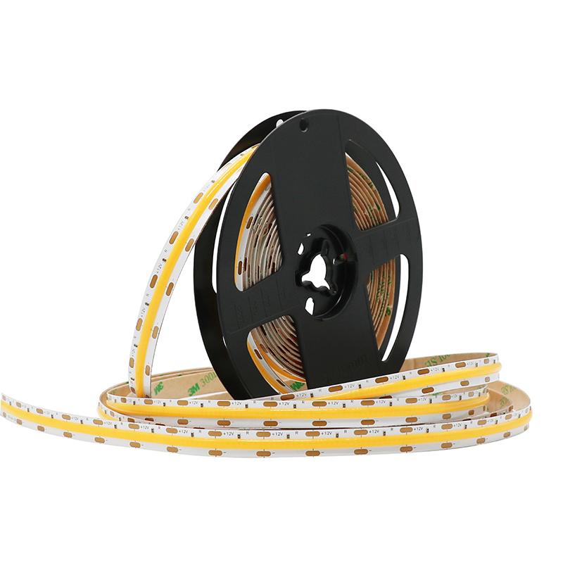 Dot free cheap price DC12V DC24V 90Ra 8mm 210LED FOB COB flexible LED strips