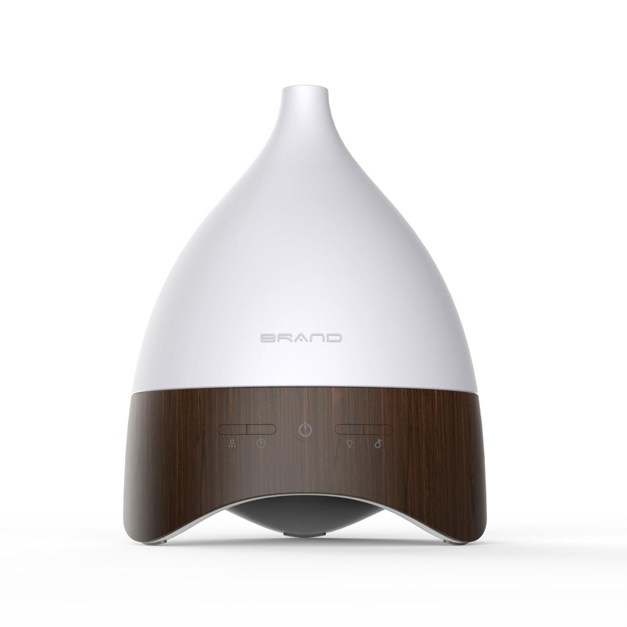 2020 Novo Design 100ml Mini Ultrasonic Aroma Difusor Óleo Essencial Grão de Madeira USB