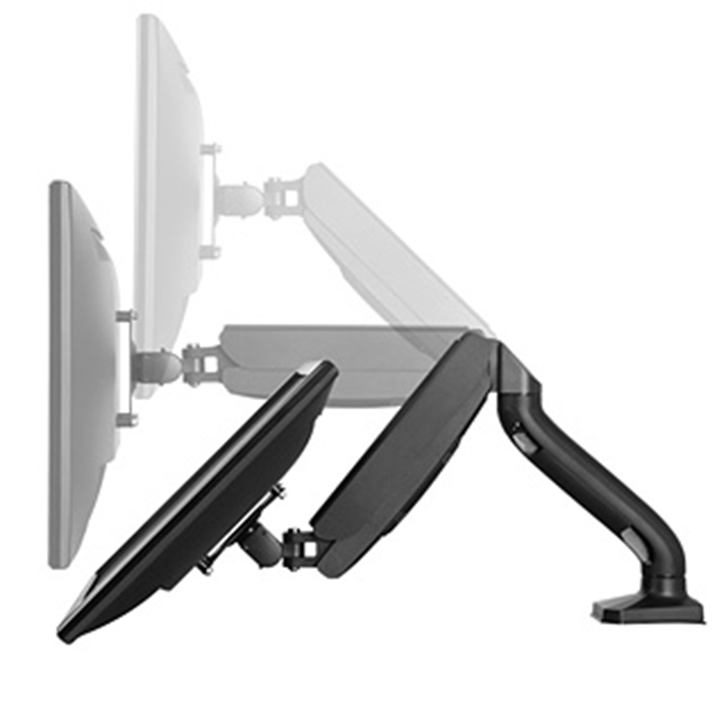 "Gas Spring Single Lcd Monitor Arm Desktop Stand For 10""-32"" Computer Screen"