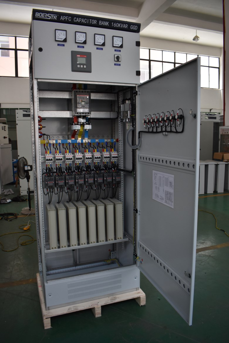 Factory Price 3 Phase 440v 100kvar 160 Kvar Automatic Capacitor Bank With Apfc Power Factor Controller View Kvar Capacitor Bank Boerstn Product Details From Boerstn Electric Co Ltd On Alibaba Com