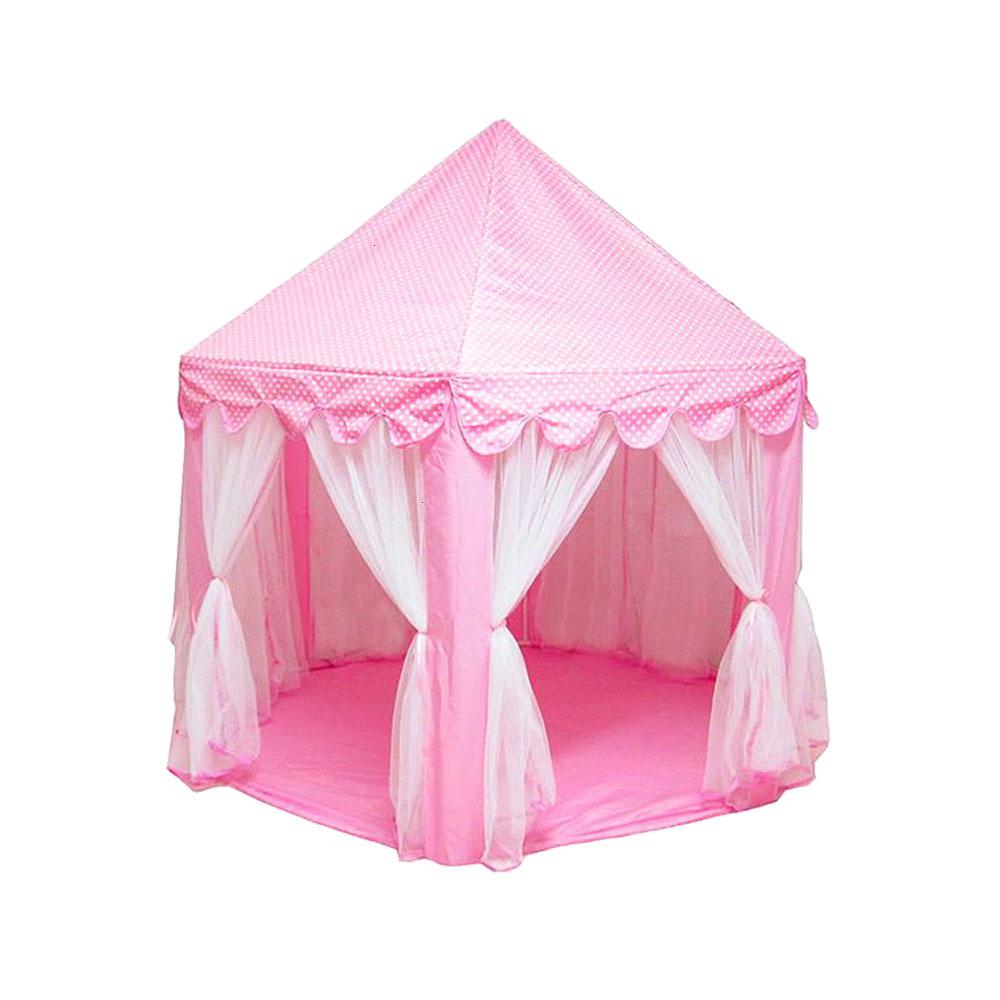 Крытая складная детская палатка-замок игровой дом девочка принцесса игрушка Типи портативный предотвратить комаров Открытый палатки для м...(Китай)