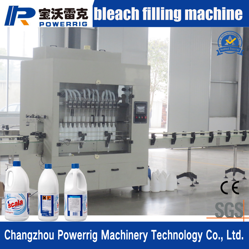 Widely used automatic liquid filling machine used for bleach and washing liquid