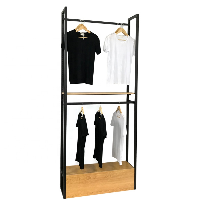 Floor standing metal clothing display rack shop furniture hanging Garment display <strong>stand</strong>