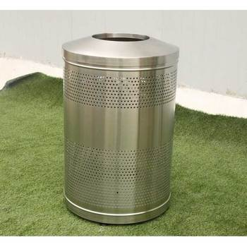 custom made outdoor stainless steel metal compost bin rubbish bin trash cans