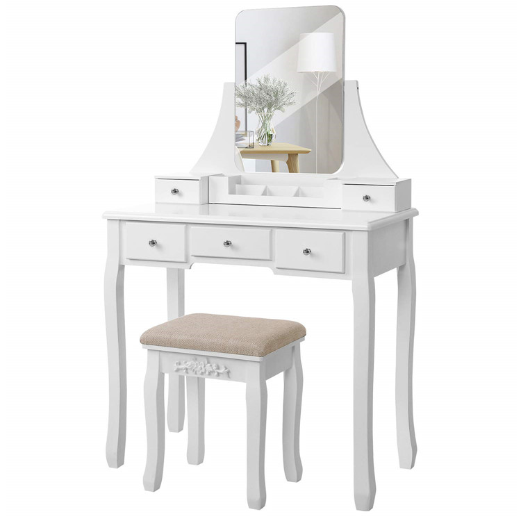 Modern Fancy Home Wood Household Wooden Dressing Table Sets Bedroom Furniture