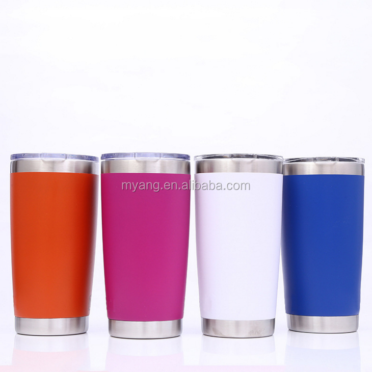 High quality reusable 550ml vacuum stainless steel coffee mug with perforated lid